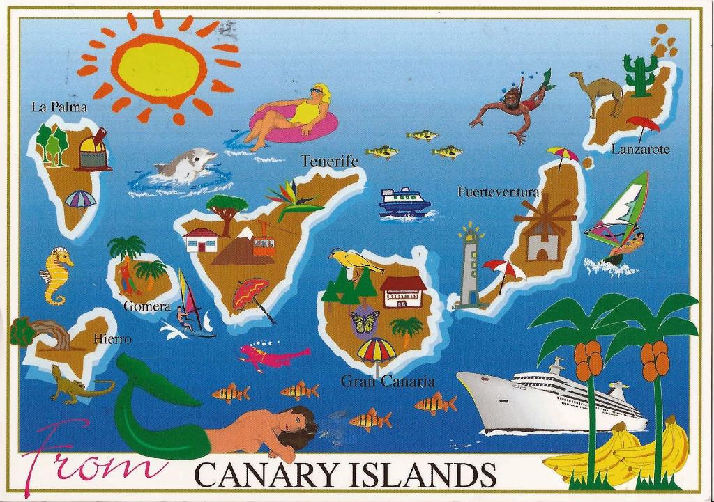 Kanári-szigetek régi képeslap