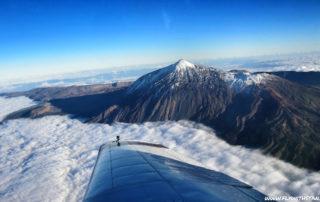 A Teide repülőről nyújtja az egyik legszebb látványt