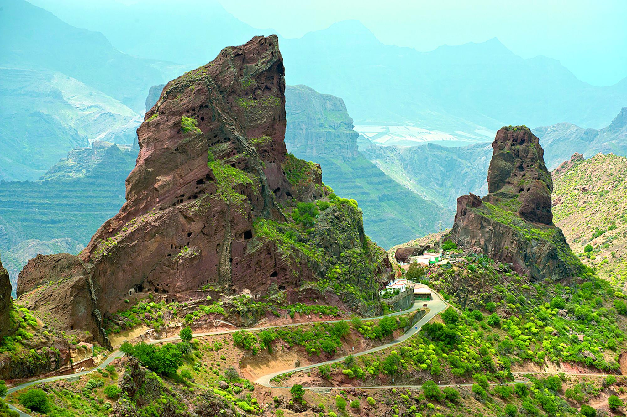 Gran-Canaria-sziklamászás-túra-Roque-Bentayga