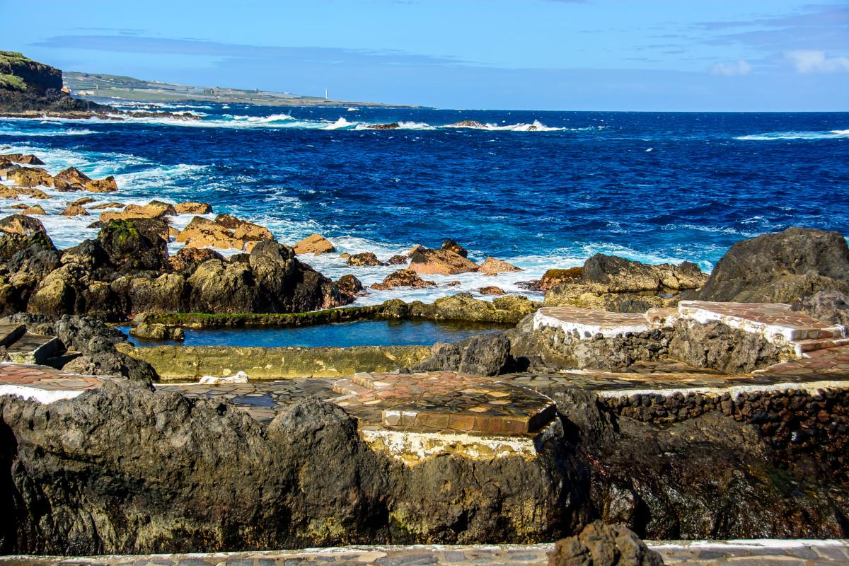 Tenerifei felhőles Garachico Icod